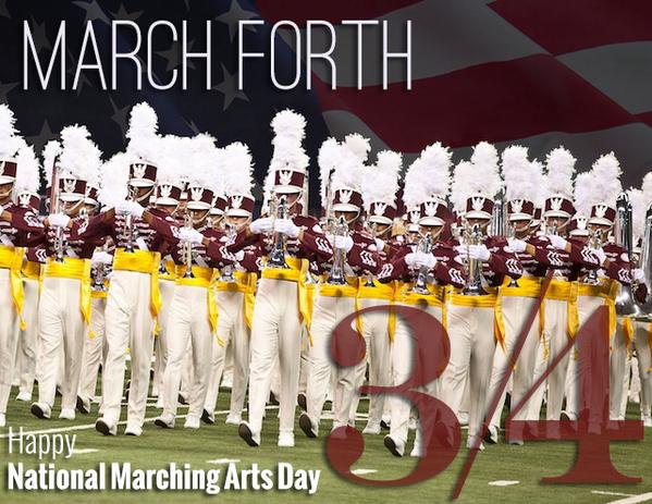 Happy #MarchingArtsDay! http://t.co/ftTyELo4r7