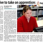 RT @SueWeston96: #Holmfirthhour Read about our local 100 in 100 Apprenticeships challenge in the @Examiner #NAW2014 http://t.co/KjS8jonJju