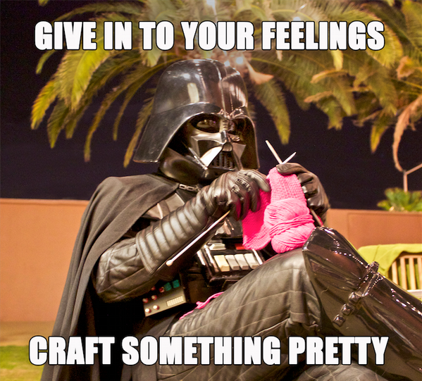 The #knitting force is strong with this one. http://t.co/lzuY2pnuFn