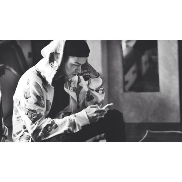 Check out @ilovetmills wearing our #Joyrich #Simpsons Hoodie!  Shout out to #Tmills , Congrats on the new EP! http://t.co/sogyPuHXTd