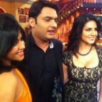 Ekta , @kapilsharmak9 & @sunnyleone on the sets of