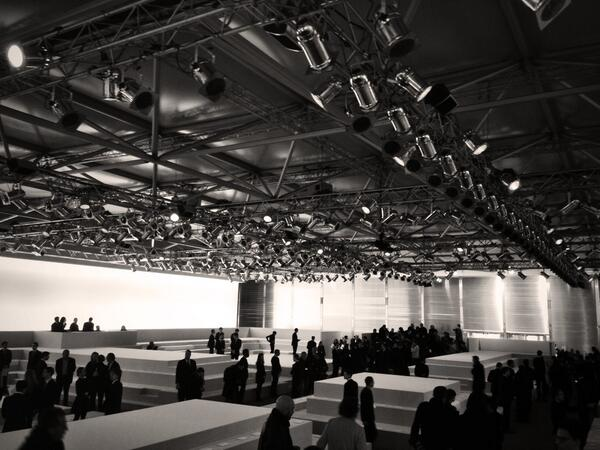 The set at Louis Vuitton Fall 2014 #pfw #lvlive http://t.co/PsWdsVDKx0