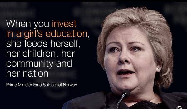 She just said it ! #Education #Women http://t.co/UmHWS48yRI
