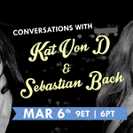 RT @AXSTV: Plus @sebastianbach! m/ RT @katvondrussia: @thekatvond will be appearing on @tomgreenlive, March 6 at 9ET|6PT! http://t.co/ImuN…