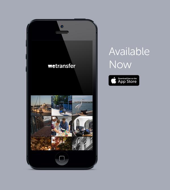 WeTransfer Mobile is available now: http://t.co/zavMknNAV8 #10GB #free #wetransfer More info: https://t.co/k4BGRE7u0H http://t.co/vcQ2jPDkAc