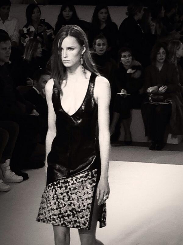 Leather and Tweed @louisvuitton girl #pfw #lvlive http://t.co/FR29z9y4Zb