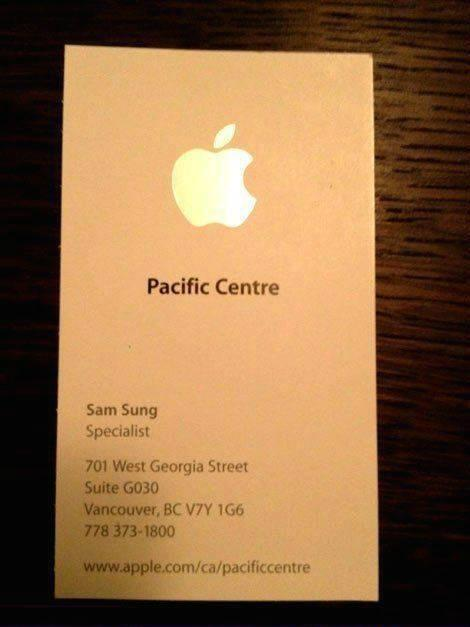 Sian Welby (@Sianwelby): This Apple employee wins at life. http://t.co/d0xI00XMIR