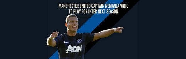 Manchester United captain Nemanja #Vidic to play for Inter next season http://t.co/O651sH2iwt #FCIM http://t.co/CldKf4TkdS