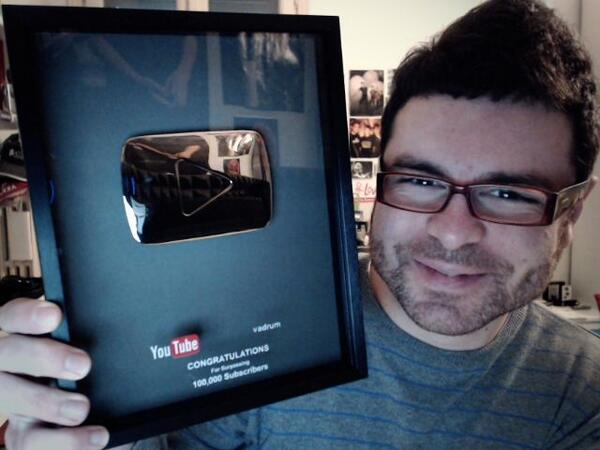 Just received this AMAZING reward from @YouTube..because of U! As always thanks so much and stay tuned..more soon! :D http://t.co/9MGGTY3t8G