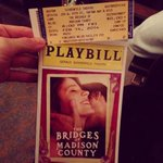 I saw the new #BridgesOfMadisonCounty musical and... read my review HERE: http://t.co/PmvnkwxR6P  @BridgesBroadway http://t.co/cjB1lmSvvp