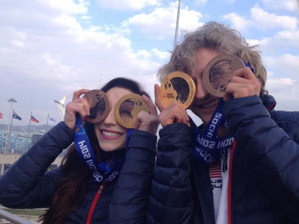 Sochi Sunglasses for @Meryl_Davis and @CharlieaWhite http://t.co/pI1ngx6vCT
