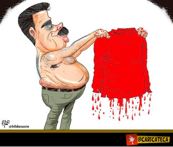 NICOLÁS TIENES LAS MANOS CUBIERTAS EN SANGRE http://t.co/lQ1RxMxvAP