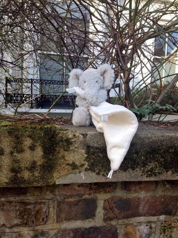 Are you very small & missing an elephant? It's on a wall outside 38 Regent's Park Rd. @InPrimroseHill @_Primrose_Hill http://t.co/qOKnC1KmbY