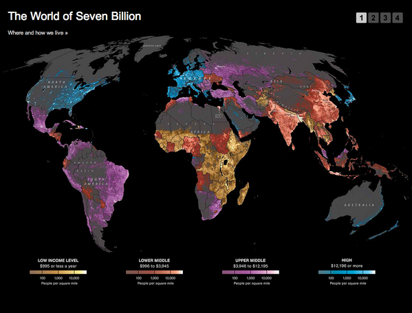 Bill Gates (@BillGates): I wouldn't have guessed that a map of population & income could be this beautiful: http://t.co/4UETKG9VeN via @NatGeo http://t.co/lUc8KxYqon