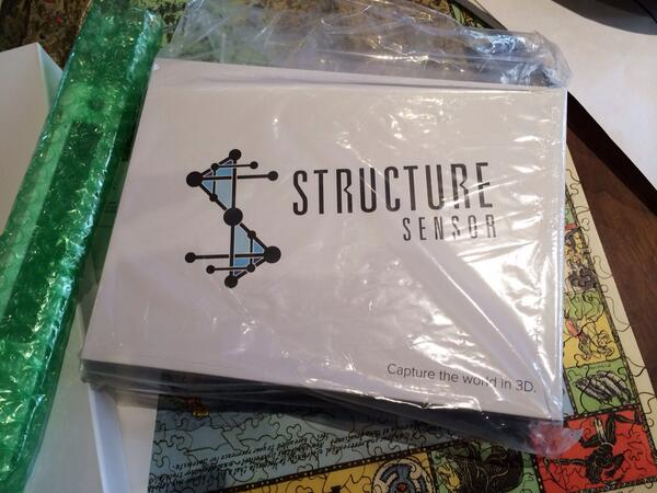 Excited! My Structure Sensor from @occipital just arrived! http://t.co/fsHhhqYXJf