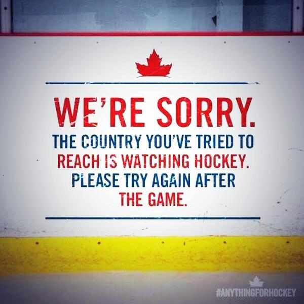 Countdown to Gold Medal Hockey!! #TeamCanada #GoCanadaGo :) http://t.co/IPIQR1gFMP