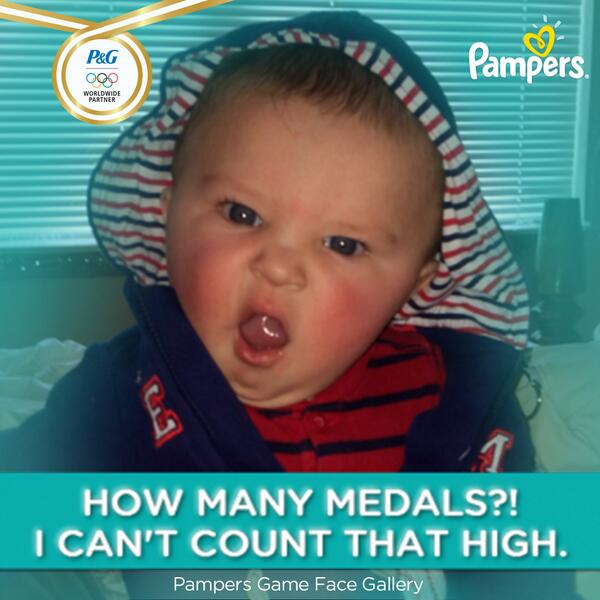 No such thing as too many medals! Share your support with #PampersGameFace (http://t.co/UCOrzkXjDv)#GoUSA #Sochi2014 http://t.co/agxfb14VTU