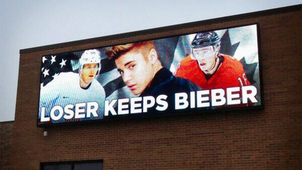 Not only did we lose the game but now we have to keep this little turd. #loserkeepsbieber #USAvsCanada http://t.co/X9pVWQHaLK