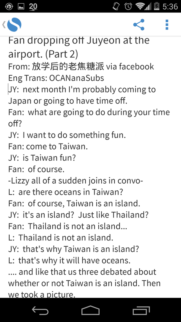 """LOL """"@OCANanaSUBS: [TRANS] Fan dropping off Juyeon at the airport. (Part 2) http://t.co/oefNYn3dGM"""""""