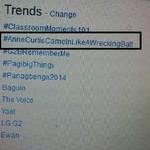 "Haha!! @eloisamorong: Ayy ohh. Nag trending na pala haha! Go @annecurtissmith!!! #AnneCurtisCameInLikeAWreckingBall http://t.co/WQ0xlkWKFi"""""