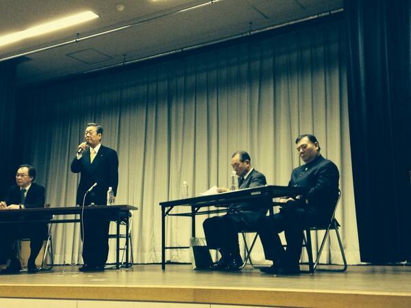 """NHKニュースにもなりました。""""@lovemeters: 【違憲国会の葬式】 高知自由民権会館にて  小沢さんが話出したら いつの間にか立ち見席 が出来ています。 小沢さん、咳で苦しそう だったのに、話だしたらシャキット。 http://t.co/Vo6fDxTpy6"""""""