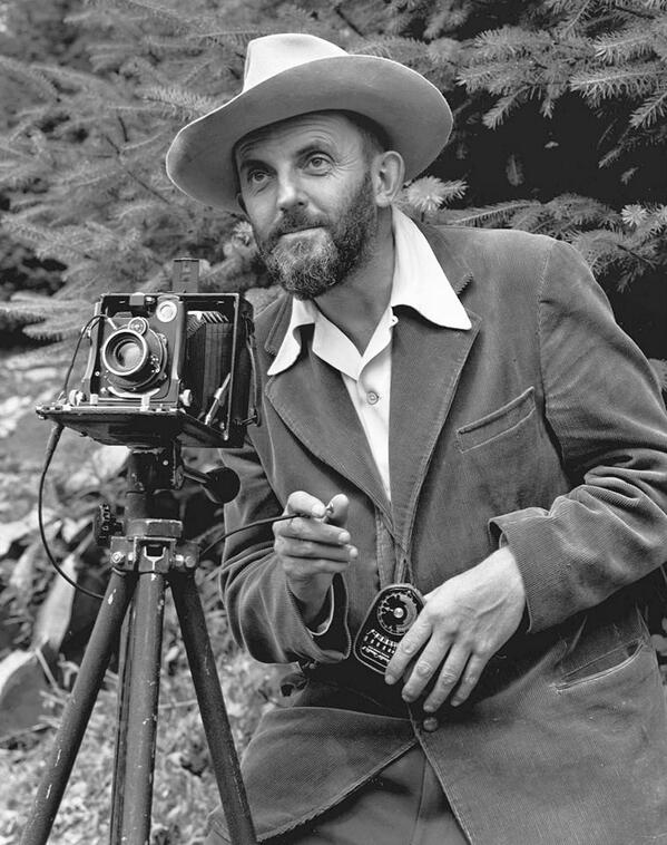 """You don't take a photograph, you make it.""  Happy 112th Birthday to master photographer Ansel Adams! http://t.co/AhFqUjIWRA"