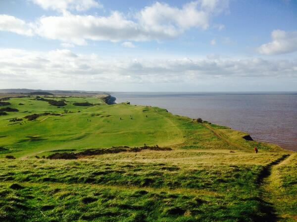 On top of Sheringham cliffs. Beautiful... http://t.co/Xp081ry35b