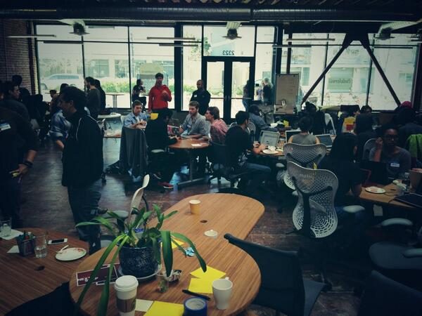 Great crowd today at Oakland #CodeAcross. Kudos @OpenOakland + @codeforamerica! http://t.co/dpSCmfeWuZ