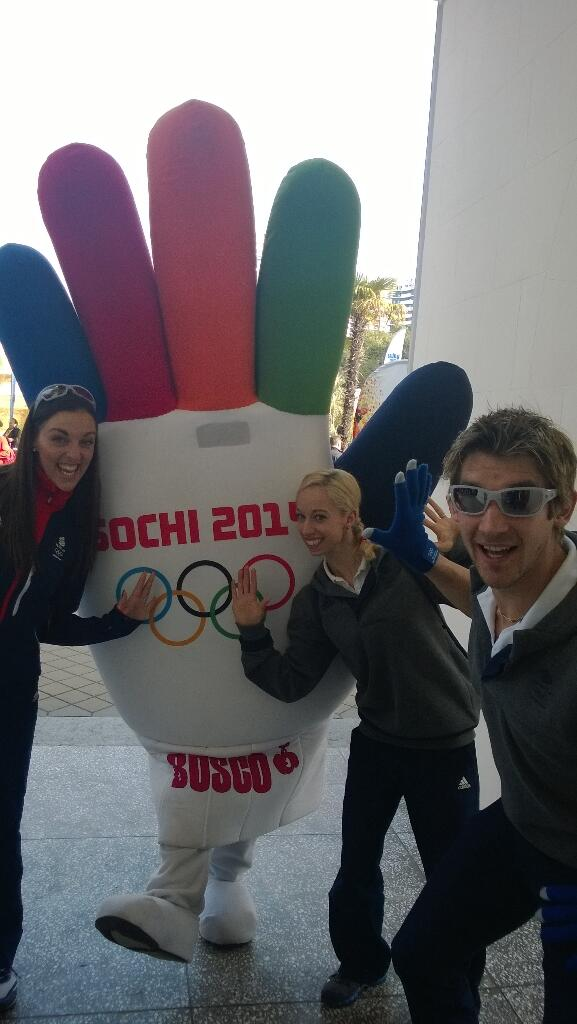 """""""@s1briggs: Night. will leave you all with The Sochi glove and @JennaMcCorkell @iceangel_sk @davidking_dk http://t.co/Tw2dZRSshh"""" fun day! X"""