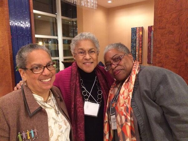 Architects of Black feminist sociology! Elizabeth Higginbotham, Patricia Hill Collins+Cheryl Townsend Gilkes #BowDown http://t.co/MAwmYIYj3D