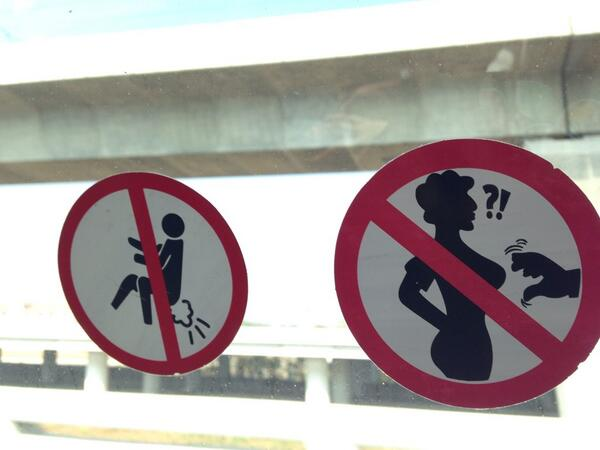 Haha! @Iwanrunner  >-RT@ SabrinaGhayour: Best signage EVER in my cab in Bangkok http://t.co/6SkNErIPKw