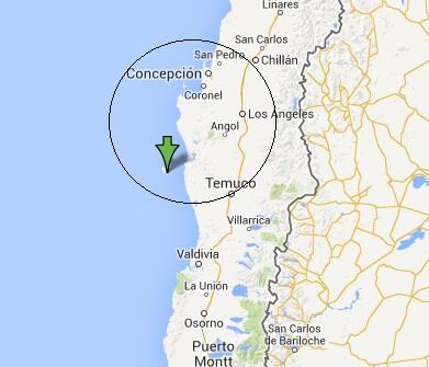 RT @FrenteFantasma: Pronostico AUT Sismo - 24 Feb 2014 - Chile - Región Biobío - Lebu - ML 5+ a 5.9+.Prof:12 Km.80% Prob. Aprox 06:57 AM. h…