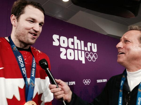 """Gold medal winner, Rick Nash -""""winning a Stanley Cup 4 @NYRangers is definitely next on the list!"""" #Sochi'14 http://t.co/LEsKYnC7Ay"""