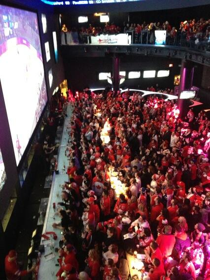 Charlsie Agro (@CBCharlsie): A sea of red and white @RealSports #sl http://t.co/ZGkTdk34v6