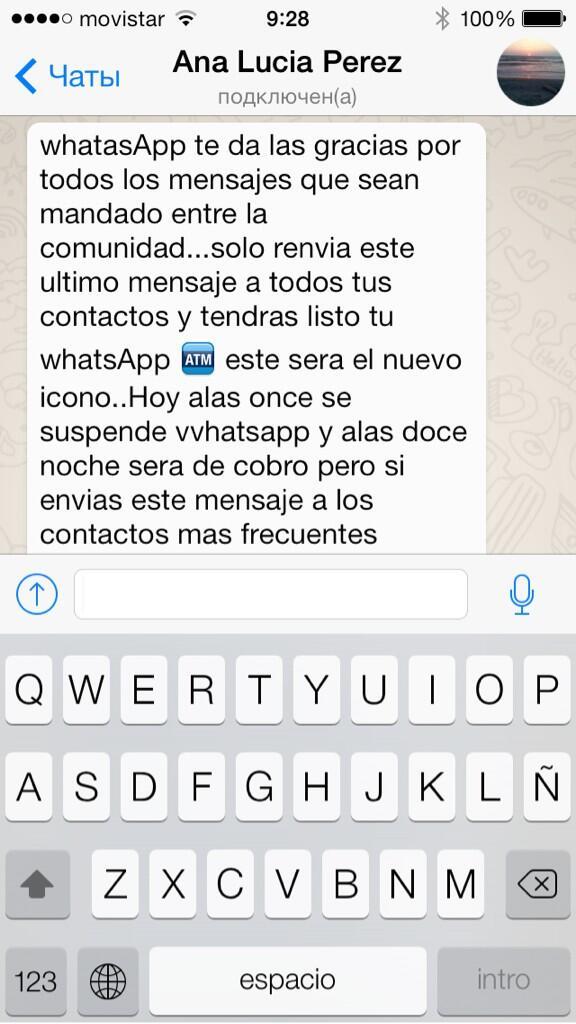 Atención!  #Hoax en #WhatsApp sobre supuesto cierre y cobro x servicio ¡Es malware!  https://t.co/X0rV4QpJ8M (Vía @dimitribest)