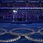 Dancers form Olympic rings at #Sochi2014 closing ceremony - live coverage http://t.co/1z0oVao3Jx &