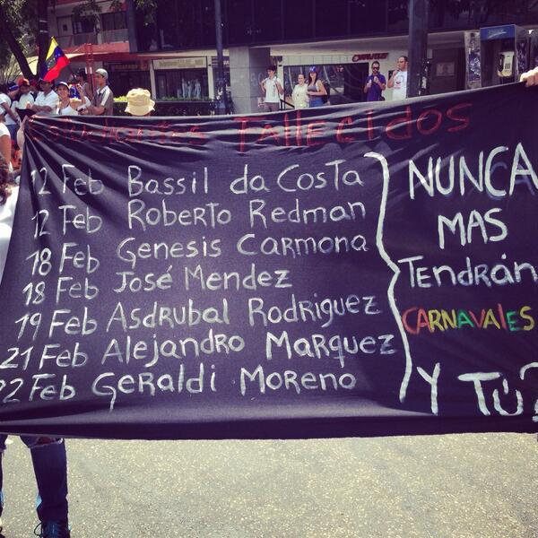 RubiTo (@Rubito_ve): Así o más claro? #23F #nohaycarnaval #sosvenezuela #NoMasViolencia http://t.co/YdP6uy27FA