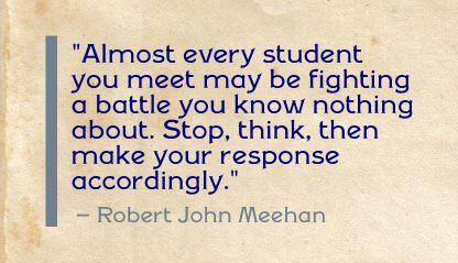 "#ISTE2014 ""Almost every student you meet may be fighting a battle you know nothing about. Stop, think, then make... http://t.co/lDKui5L5C7"