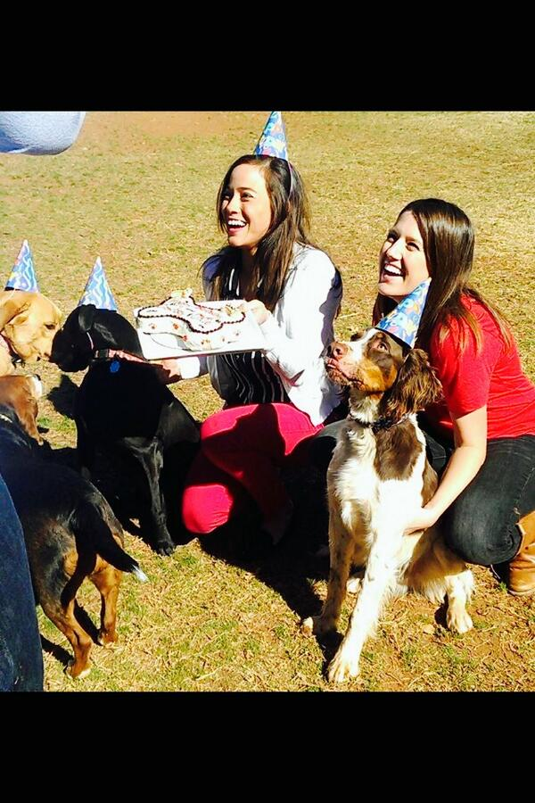 Ashley Kringen (@Ashleykringen): Happy 1-year-Birthday Cowboy Buck & Okie! @emilyrsutton http://t.co/3N2RYeWCJ8