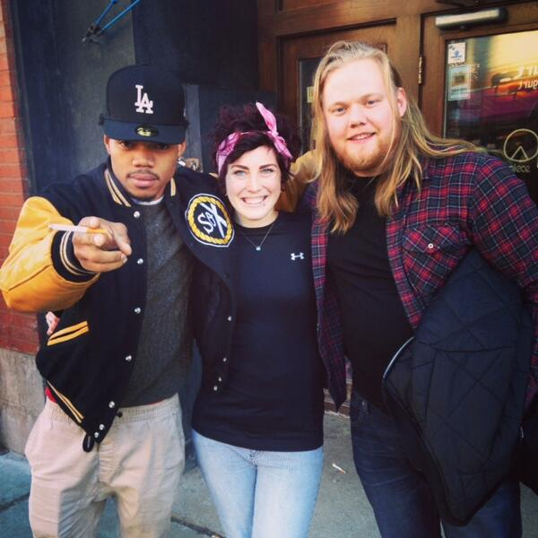 Great seeing @chancetherapper today! #piecepizza #pizza #rap #rapyourpizza http://t.co/CjxYtqgqoI