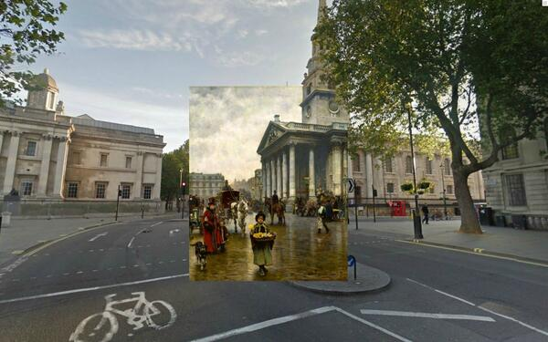 10 old paintings of London combined with Google Street Views http://t.co/POgPtpiZs6 St Martins in the Fields http://t.co/jGgTBecvQN