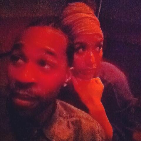Me n @KasiJones take the most awkward usies in the studio http://t.co/Fr3fWGZZcW