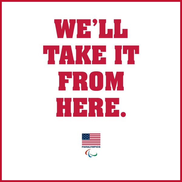 We'll take it from here, @USOlympic. The 2014 #Paralympics are March 7-16 in Sochi, Russia. #GoTeamUSA! http://t.co/8ooWZod5Cj