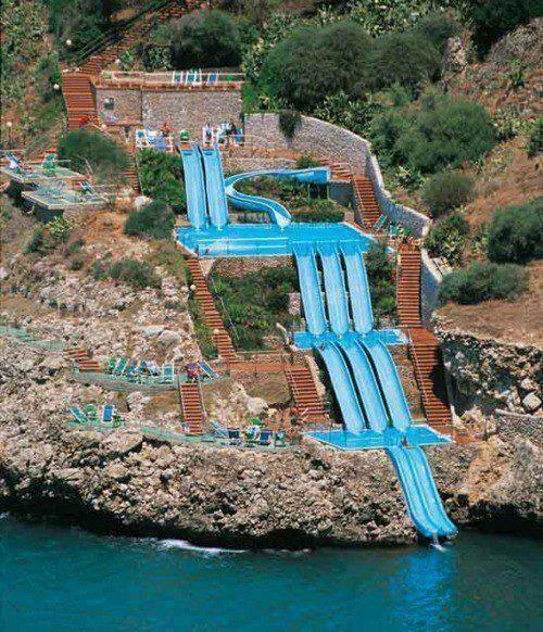 """@TheEarthPosts: Superslide into the Mediterranean Sea, Sicily, Italy http://t.co/oiY8wbf7Ts"" 《 when can I go do this?"