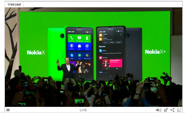 It's official! #Nokia just announced the Nokia X series that can run #Android apps #MWC http://t.co/DQTJwGvqff
