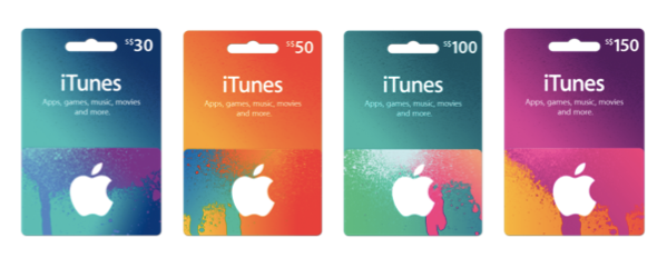 Apple has finally launched iTunes giftcards in Singapore. They are available at select resellers (Courts, epiCentre) http://t.co/ZSOeLJsq4T