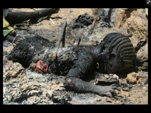 This little girl is somebody's daughter killed in #BornoMassacre Is her mother alive to weep for her or bury her? http://t.co/lm6WlPRgN0