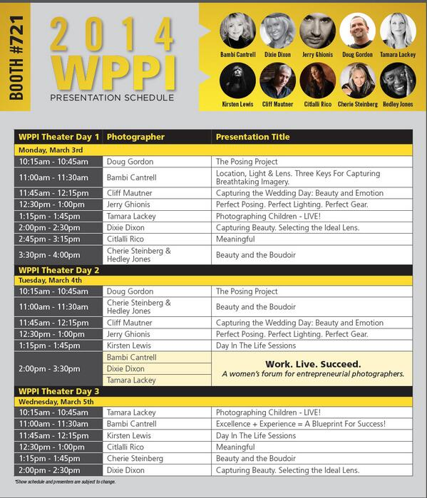 @NikonUSA has a great line up of speaking for @RFWPPI 2014. Come and listen at the trade show! Here's the schedule. http://t.co/ZzdynEwRBU