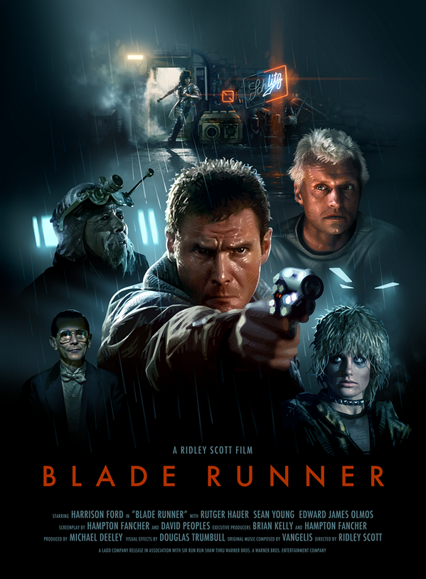 I made a Blade Runner poster. Bigger version here if you would like to see it in more detail - http://t.co/C0ezdLFEqh http://t.co/F9dHRBCLRw