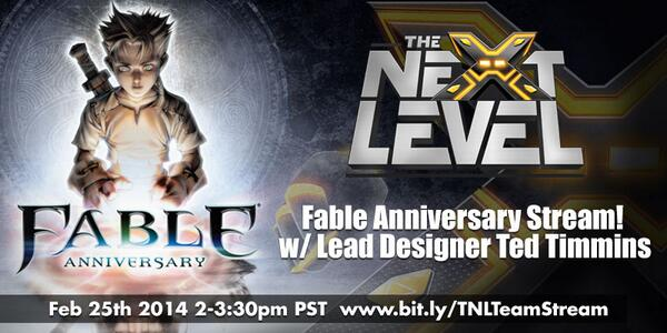 <3 me some Fable! @tnlvl live stream on #FableAnniversary w/ Lead Designer @LHTeddii tomorrow http://t.co/jRA33pIH0w http://t.co/jR63ukNqyr